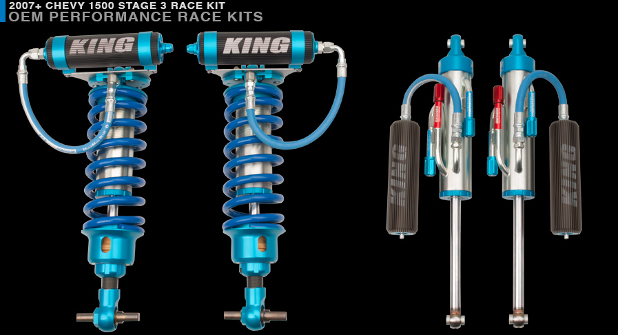 King Shocks Tahoe/Yukon 07+ Front Stage 3 Race Kit 3 0 Dia  Remote  Reservoir Coil-Over W/Adjuster **Requiers Aftermarket Upper Control Arm**