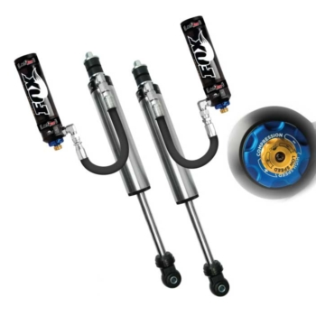 Front Fox 2.5 Factory Series Remote Reservoir w/DSC Adjuster Shocks 05-16 Superduty