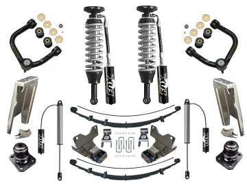 05+ Toyota Tacoma Suspension Lift Fox 2.5 Coilovers Icon Delta Joint RXT Pack U-Bolt Archive Garage Shock Relocation Hammer Hanger