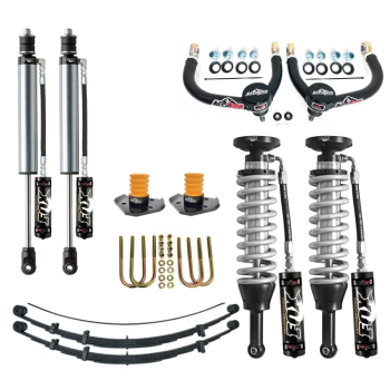 05+ Toyota Tacoma Suspension Lift Fox 2.5 Coilovers Icon Delta Joint RXT Pack U-Bolt Archive Garage
