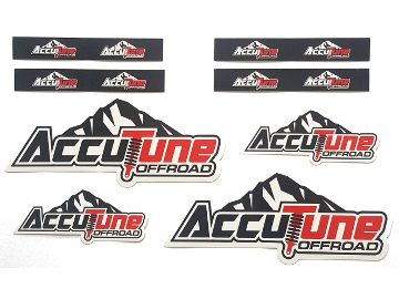 AccuTune Off-Road stickers for 2.0 shocks with remote reservoirs