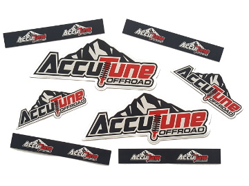 AccuTune Off-Road stickers for 2.5 remote reservoir shocks