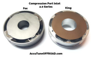 Fox vs King 2.0 Coilover Piston Compression Port Inlet