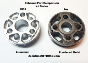 Fox vs King 2.0 Coilover Piston Rebound Port